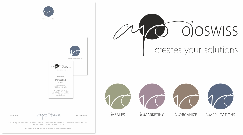 apoioSWISS; Logodesign für Firmengründer