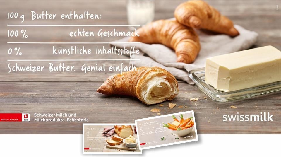 Werbekampagne Schweizer Butter